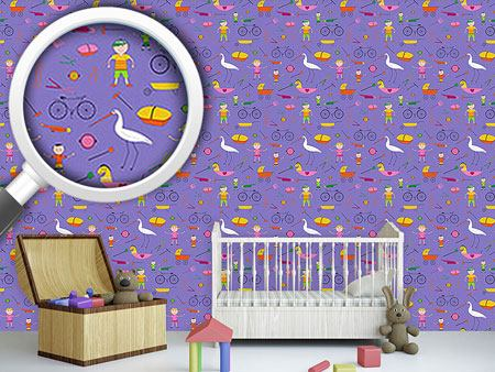 Pattern Wallpaper Hustle and Bustle of Children