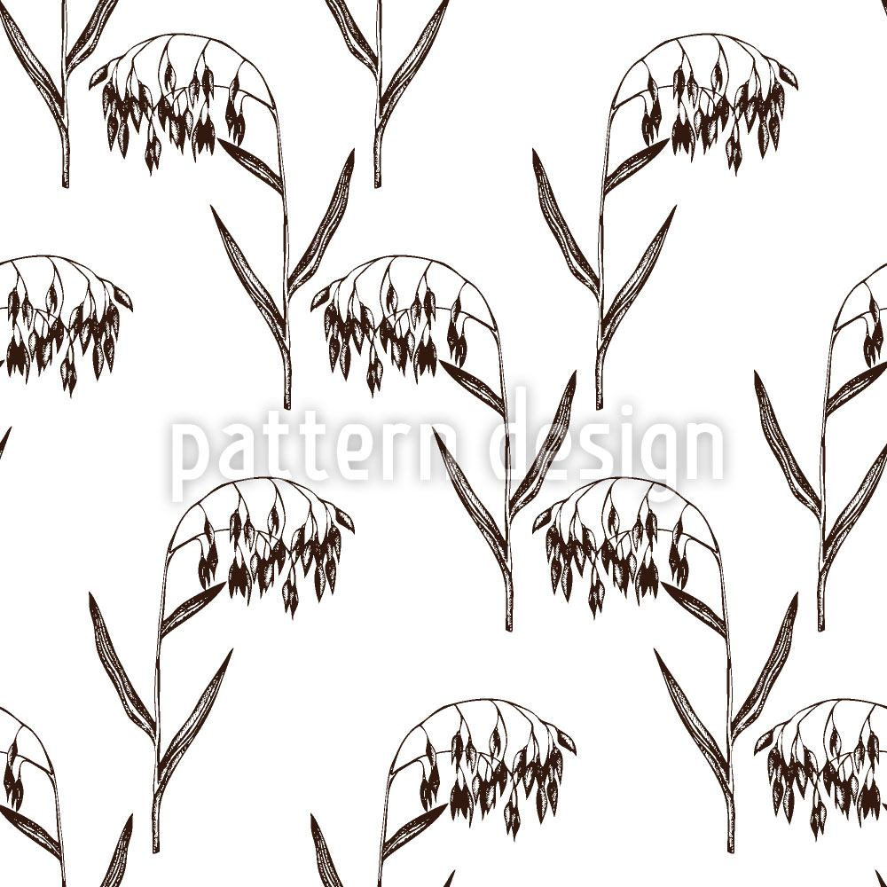 Pattern Wallpaper Vintage Oats