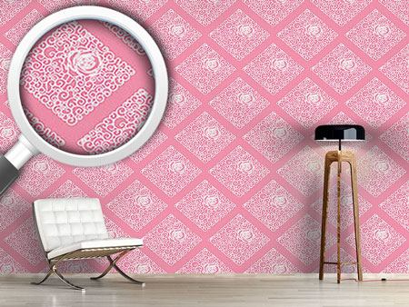 Pattern Wallpaper Sleeping Beauties Rose