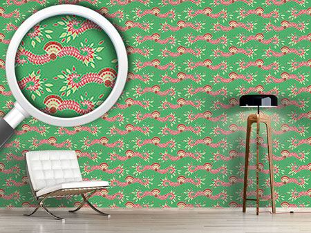 Pattern Wallpaper Persia Green