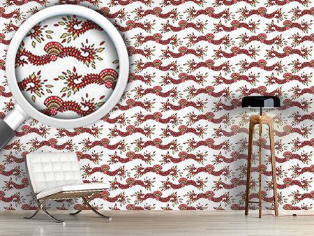 Pattern Wallpaper Cavallo White
