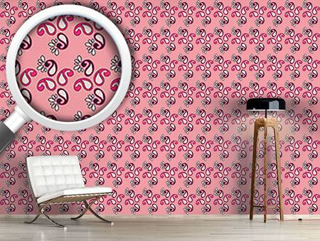 Pattern Wallpaper Fancy Paisley Pink