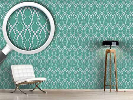 Pattern Wallpaper Emerald Pearls