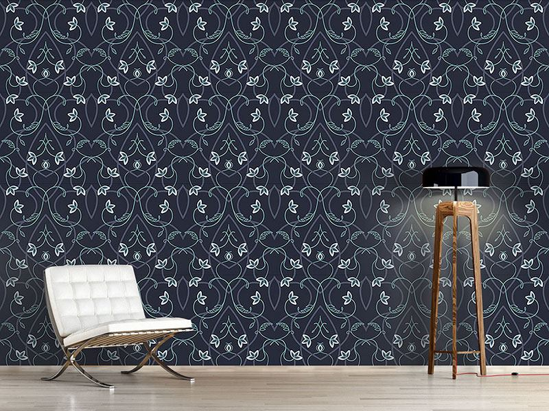 Pattern Wallpaper Gothic Flower Fantasy