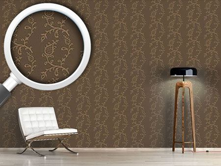 Pattern Wallpaper Cinderella Brown
