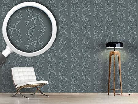 Pattern Wallpaper Cinderella Grey