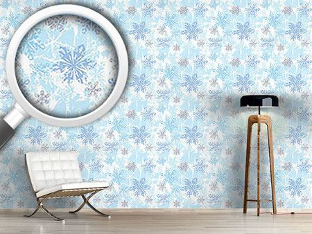 Pattern Wallpaper Sibiria Blue