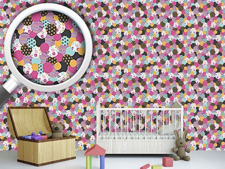 Pattern Wallpaper Birthday Buttons Pink