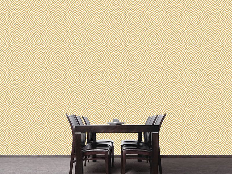 Pattern Wallpaper In The Center Yellow