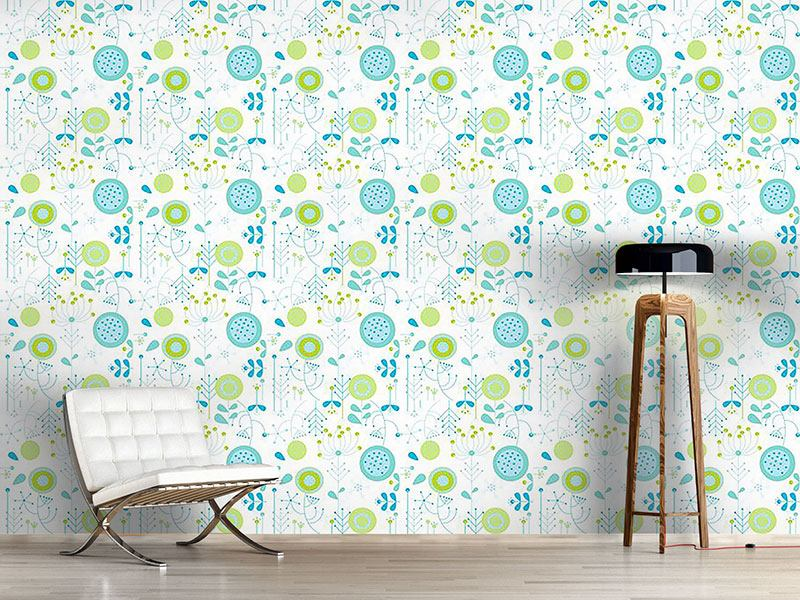 Pattern Wallpaper Liljana Aqua