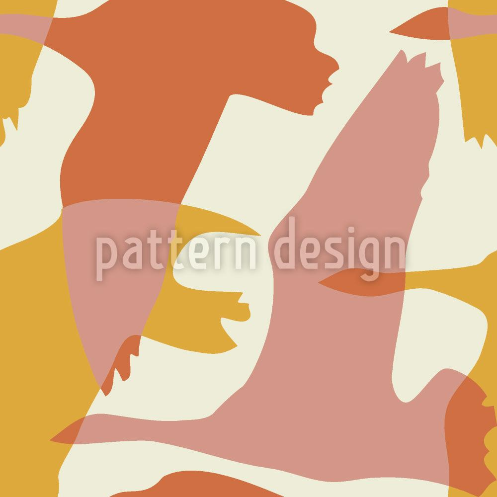 Pattern Wallpaper Flying Goose In The Sun