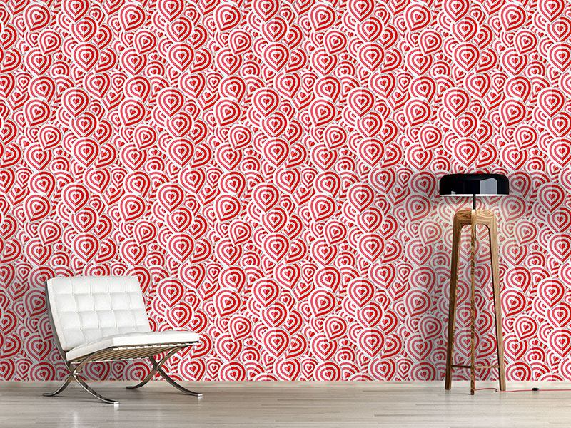 Pattern Wallpaper Campionos Heart Fold
