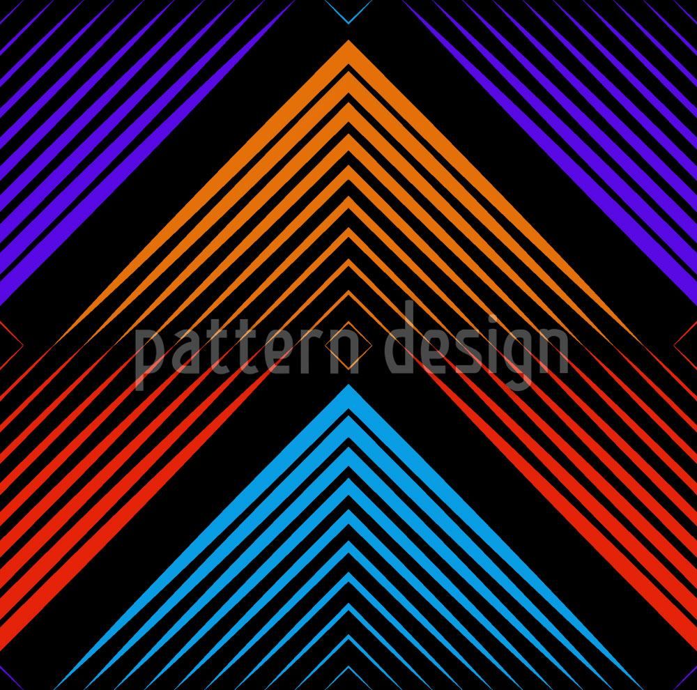 Pattern Wallpaper Philharmonic Zig Zag Color