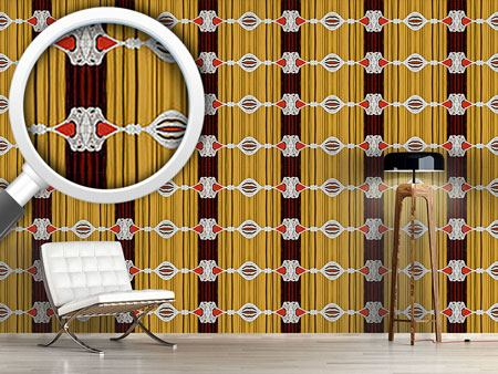 Pattern Wallpaper Curtains Up For Baroque