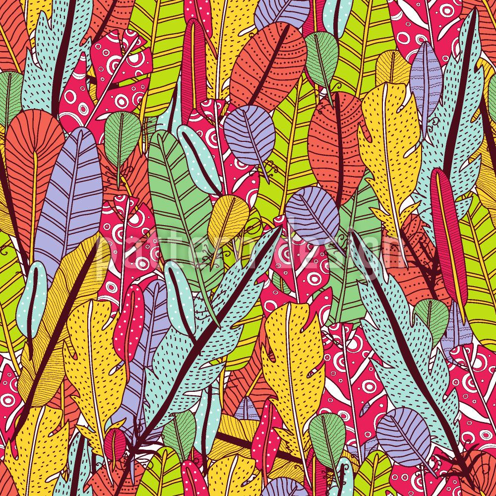 Pattern Wallpaper The Feathers Of The Paradise Birds
