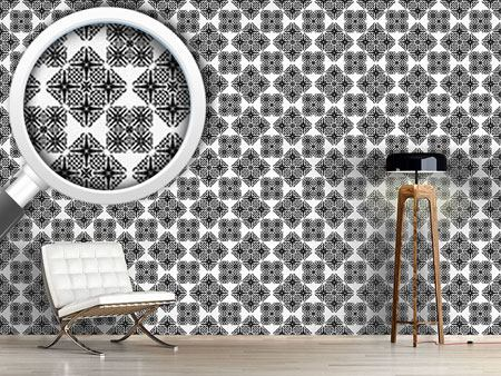 Pattern Wallpaper Lace Geometry