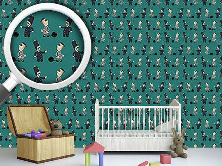 Pattern Wallpaper The Policeman And His Convict