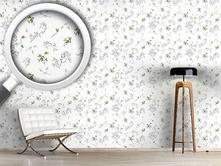 Pattern Wallpaper Summer Flower Drawing