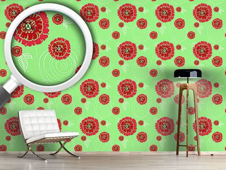 Pattern Wallpaper Poppies