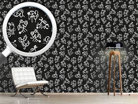 Pattern Wallpaper Naive Characters