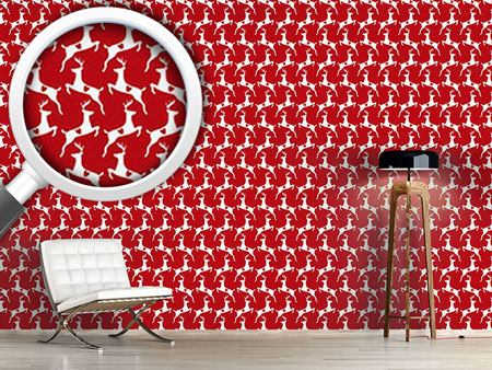 Pattern Wallpaper Lovely Deer