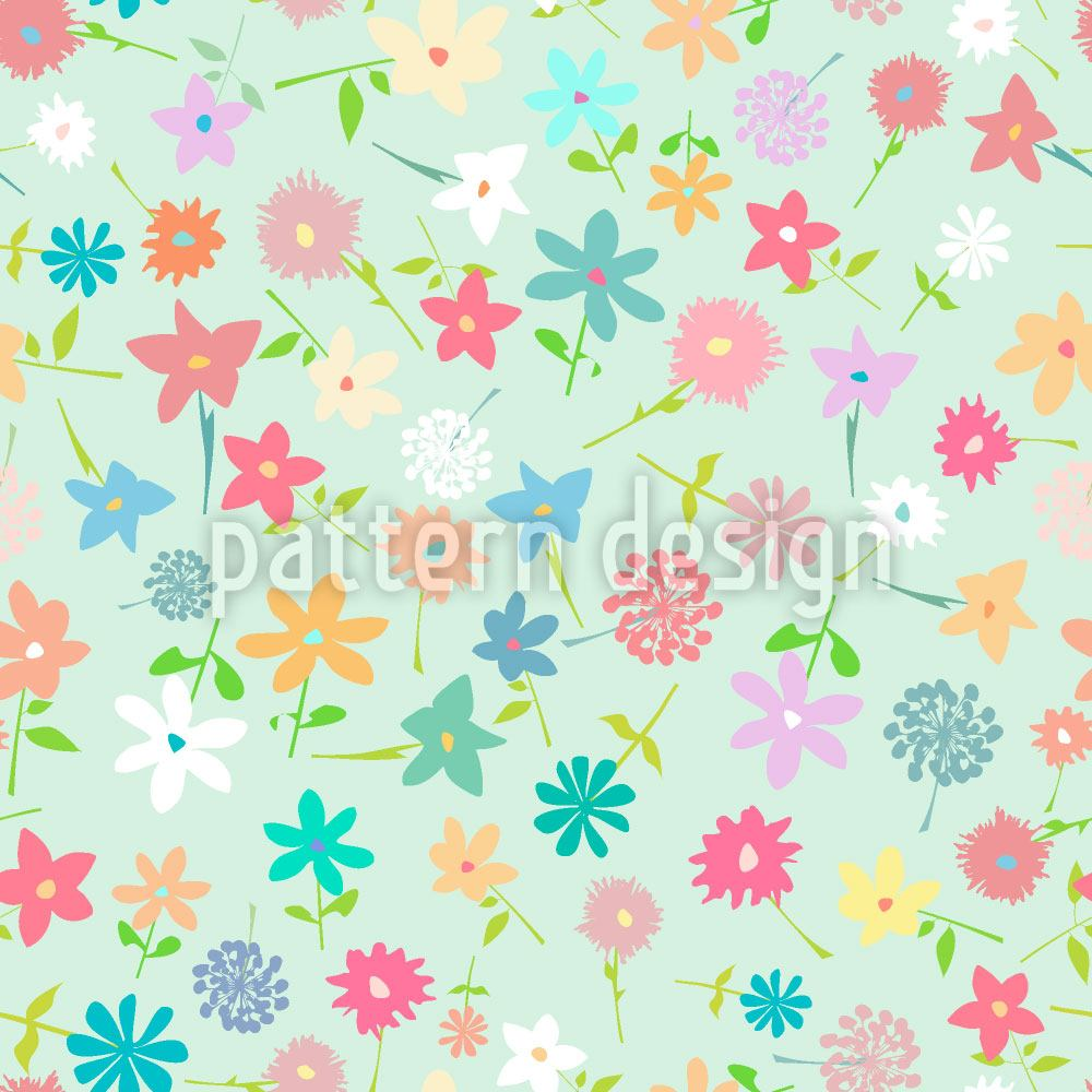 Pattern Wallpaper Field Of flowers
