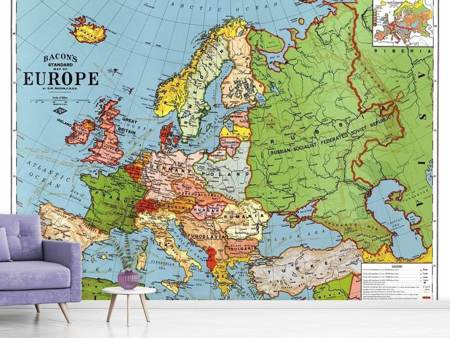 Fototapet Map Europe