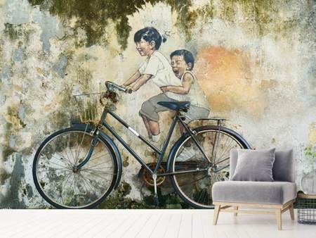 Photo Wallpaper Bicycle graffiti