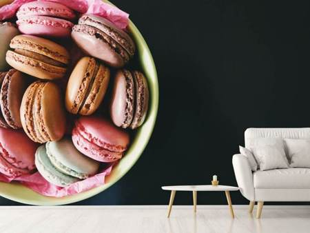 Fototapet A bowl of macaroons