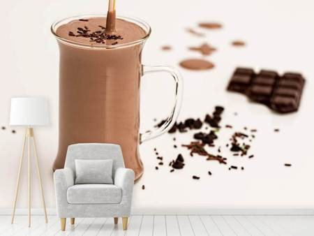 Fototapet Sweet chocolate smoothie