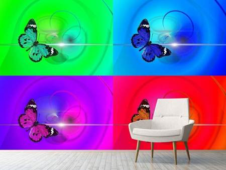 Fototapet Pop Art Colorful Butterfly
