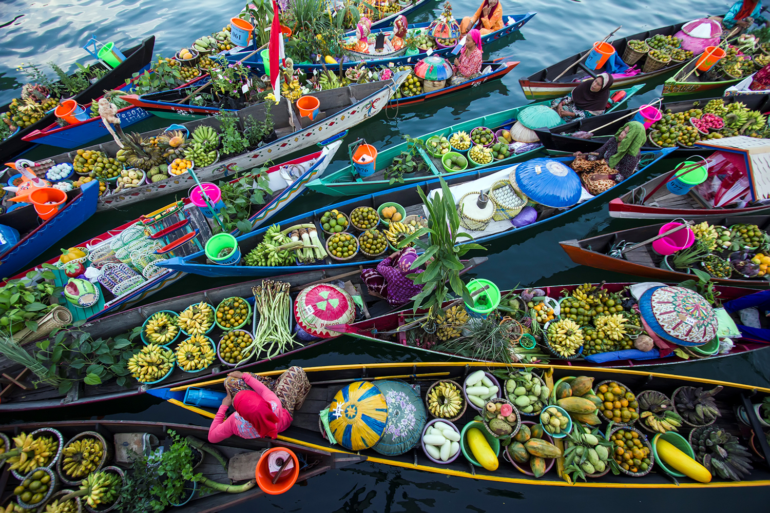 Photo Wallpaper Banjarmasin Floating Market