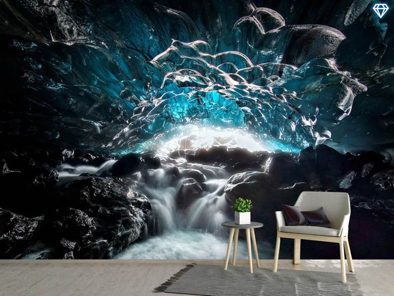 Photo Wallpaper Blue Glacier Cave