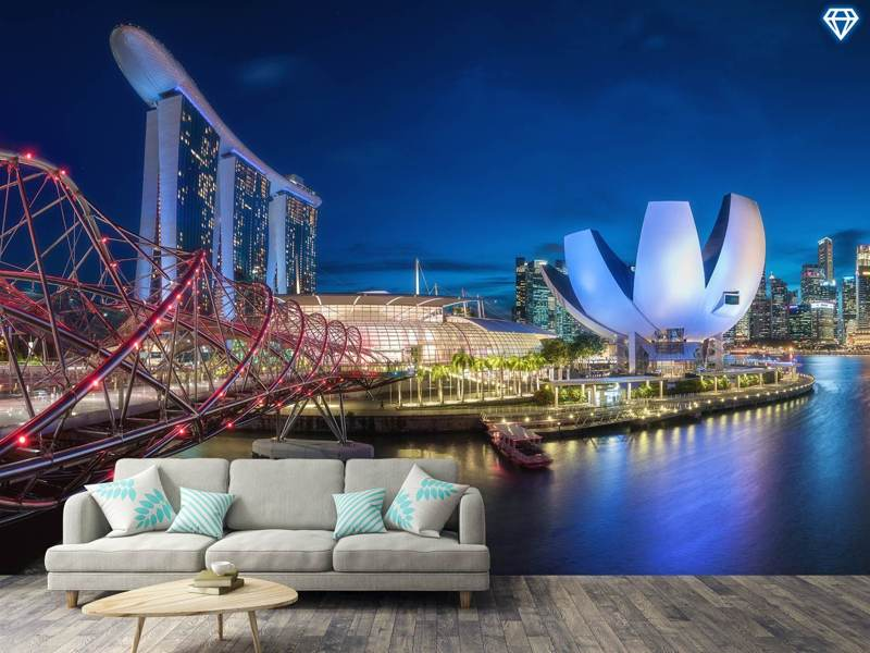 Photo Wallpaper Singapore - Marina Bay Panorama