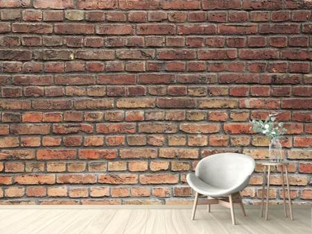 Photo Wallpaper Brown Brick Wall