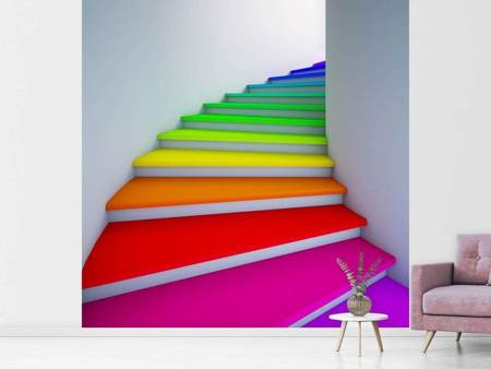 Fototapet Colorful Stairs