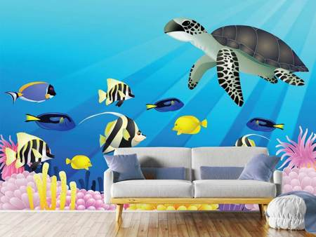 Fototapet Children`s Underwater World
