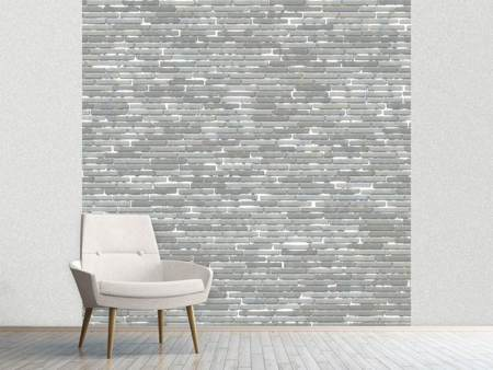 Fototapet Stone Wall In Gray