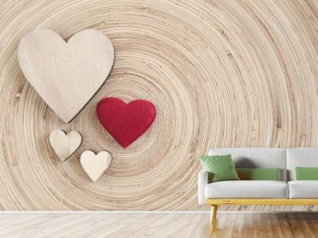 Photo Wallpaper Hearts