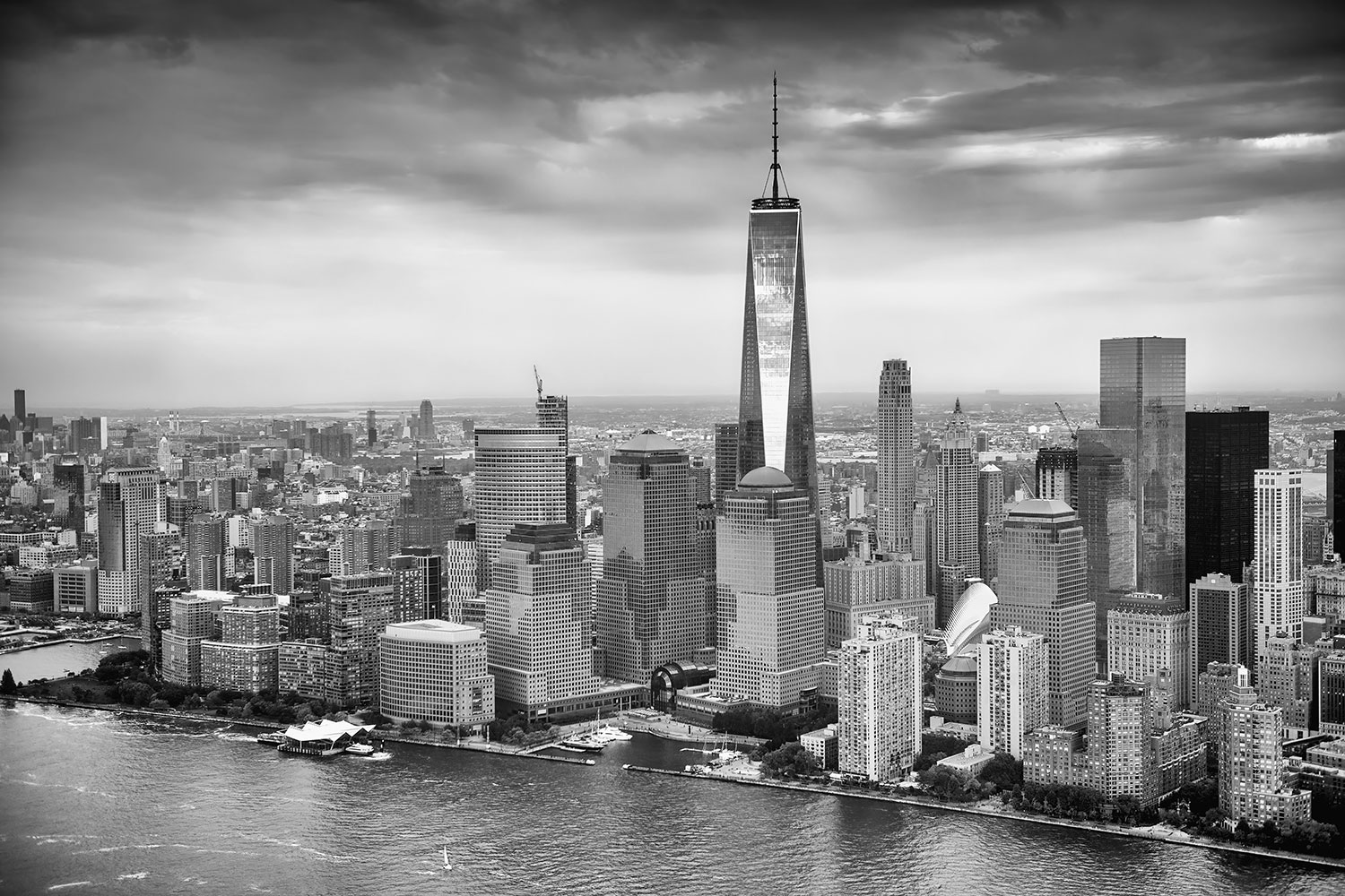Fototapet Skyline Black And White Photography New York